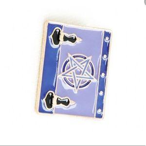 EARTHBOUND pentagram spell book enamel pin